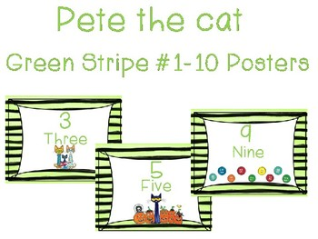 Pete the cat numbers 1-10 (half size)