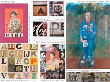Peter Blake artist research and analysis worksheet