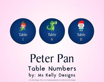 Peter Pan 1-12 Table Numbers