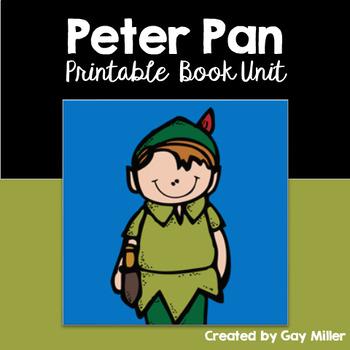 Peter Pan Novel Study: vocabulary, comprehension, writing