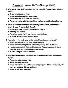 Peter Pan Comprehension Quiz (Chapters 14-17)