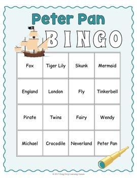 Peter Pan Bingo Game