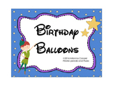 Peter Pan Birthday Balloons