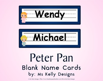 Peter Pan Blank Name Cards