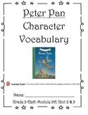 Peter Pan Character Vocabulary Journal (Unit 2 & 3)