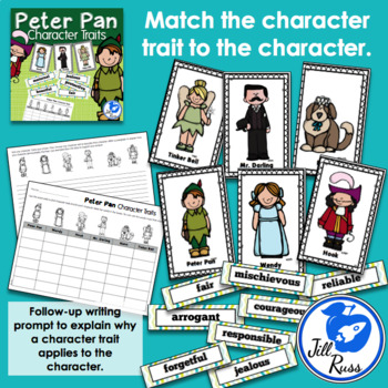 Peter Pan Character Traits Literacy Center