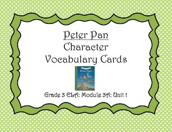 Peter Pan Character Vocabulary Cards (Unit 1)