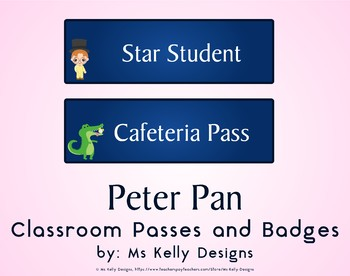 Peter Pan Classroom Passes and Badges