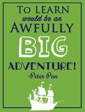 Peter Pan Classroom Poster