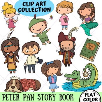 Peter Pan Clip Art Collection, Storybook, Story Time Clipart