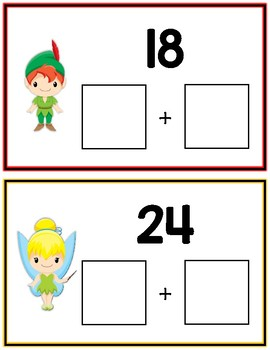 Peter Pan Expanded Form Math File Folder Game Place Value Tens & Ones