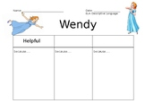 Peter Pan Character Chart: Wendy
