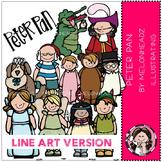 Peter Pan clip art - LINE ART- by Melonheadz