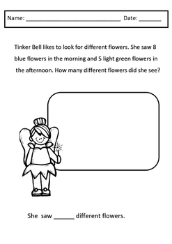 Peter Pan - Literacy and Math Worksheets