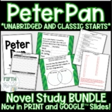 Peter Pan Novel Study BUNDLE discussion guide journal and unit test