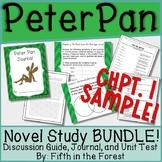 Peter Pan Novel Study BUNDLE Chpts 1 and 2 FREEBIE