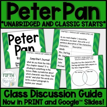 Peter Pan Novel Study Class Discussion Guide