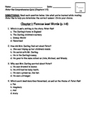 Peter Pan Comprehension Quiz (Chapters 1-5)