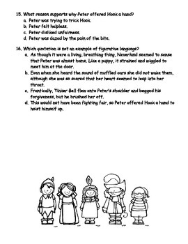 Peter Pan Comprehension Quiz (Chapters 6-9)