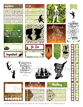 Peter Pan Sticker Sheet PRINTABLE for Teacher Planners