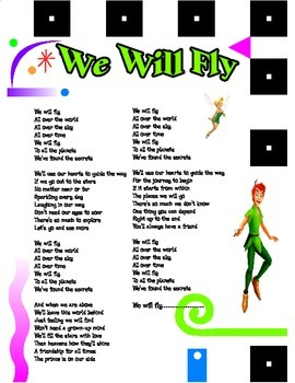 "Lyrics for Classic Starts Peter Pan Theme Song ""We Will Fly"" by Carla Flores"