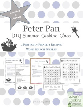 Peter Pan Themed Cooking & Literacy Activities