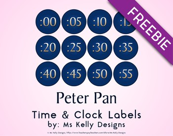 Peter Pan Time & Clock Labels