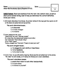 Peter Pan Vocabulary Quiz (Chapters 14-17)