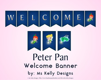 Peter Pan Welcome Banner for Classroom