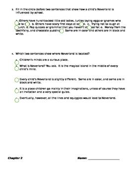 Peter Pan assessment using FSA test specs
