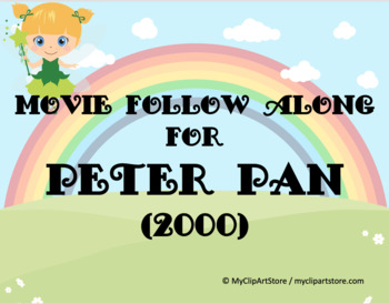 Peter Pan follow along movie sheet--2000 Cathy Rigby
