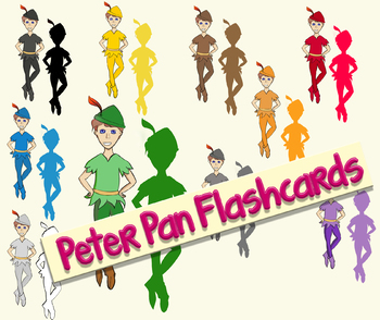 Peter Pan in different colours - Flashcards, Pairs