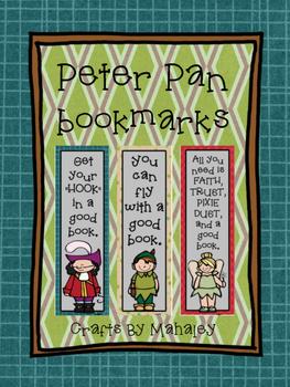 Peter Pan themed book mark