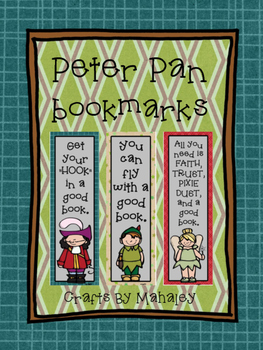 Peter Pan themed book mark