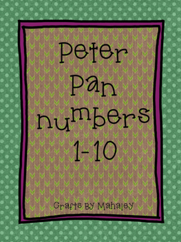 Peter Pan themed numbers 1-10