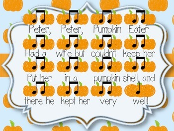 Peter Peter Pumpkin Eater: A Fall Chant for Expressive Elements and Form