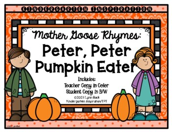 Mother goose teaching resources teachers pay teachers mother goose rhymes peter peter pumpkin eater fandeluxe Gallery
