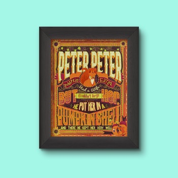 Peter Peter Pumpkin Eater Art Nursery Rhyme poster
