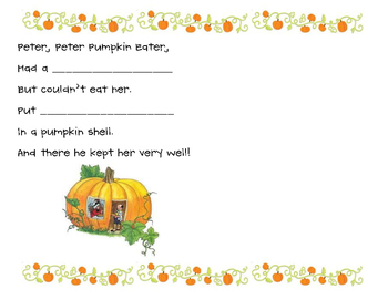 Peter, Peter, Pumpkin Eater - Lift the Flap Class Book