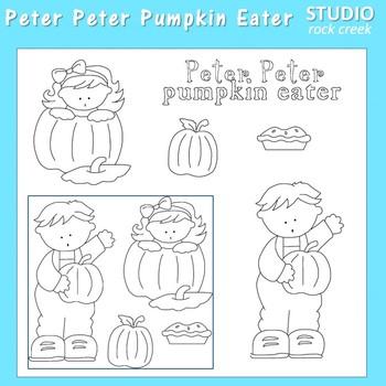 Peter Peter Pumpkin Eater Line Art C. Seslar