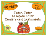 Peter Peter Pumpkin Eater Activities