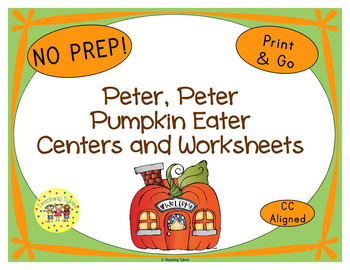 Peter Peter Pumpkin Eater Activities