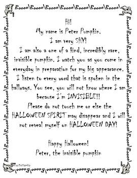 Peter Pumpkin and  Jack-O-Lantern; the invisible pumpkins - Halloween