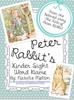 Peter Rabbit Kindergarten Sight Word Game