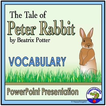The Tale of Peter Rabbit Vocabulary PowerPoint Easter Activity