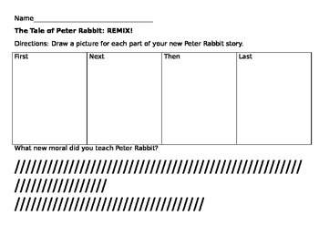 Peter Rabbit Writing