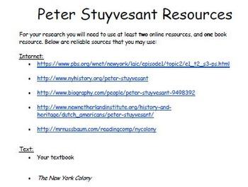 Peter Steryvesant Research Organizer