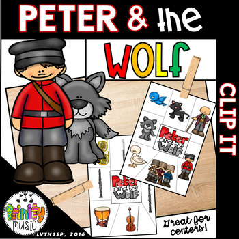 Peter and the Wolf Clip It Cards