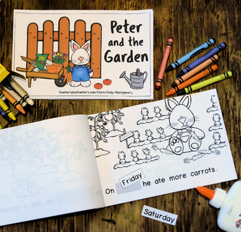 Peter and the Garden: Days of the Week Interactive Reader & Comprehension Checks