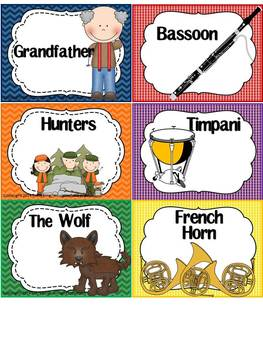 Peter and the Wolf Activities and Bulletin Board BUNDLE